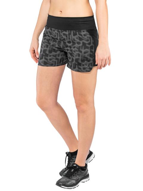 """asics 3,5"""" Shorts Print - Pantalones cortos running Mujer - negro"""